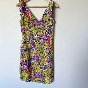 Vintage 90's Joni Blair Tropical Summer Dress